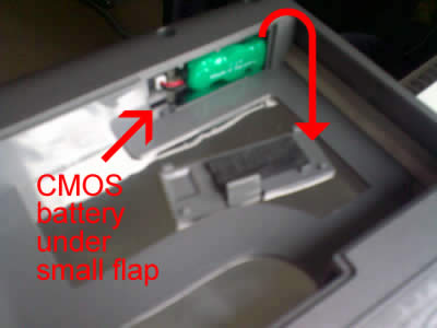 Dell Inspiron CMOS battery location